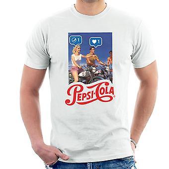 Pepsi Cola Be Sociable Motorrad Herren T-Shirt
