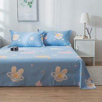 Elegant Home Printed Soft Cotton Flat Bed Sheet And Pillow Case