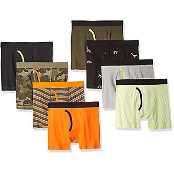 Essentials Big Boys' 8-Pack Boxer Brief, Camo, M (8)