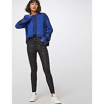 VIND Animal Print Coated Skinny Jeans, Zwart, W30 x L32