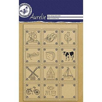 Aurelie laatat selkeä postimerkit