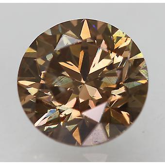 Cert 1,05 Karat Orangie braun VS1 Runde brillante natürliche lose Diamant 6,31m 3EX
