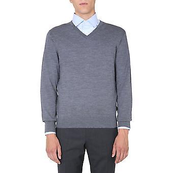 Z Zegna Vvm96zz100k98 Men's Grey Wool Sweater