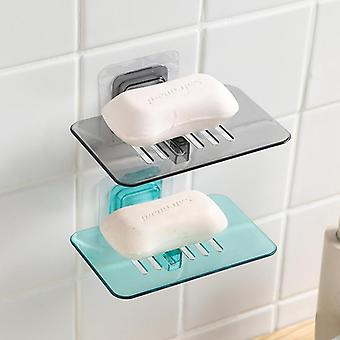 Bathroom Shower Soap Box Dish Storage Plate Tray Holder Transparent Case Soap