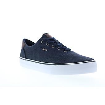 Lugz Flip  Mens Blue Canvas Lace Up Lifestyle Sneakers Shoes