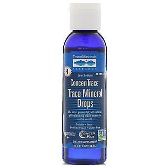 Trace Minerals Research, ConcenTrace, Trace Mineral Drops, 4 fl oz (118 ml)
