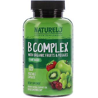 NATURELO, B Complex with Organic Fruits & Veggies, 120 Vegetable Capsules