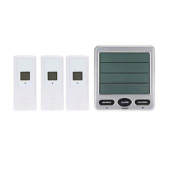 Weather Wireless Digital Thermometer and Hygrometer Silver White