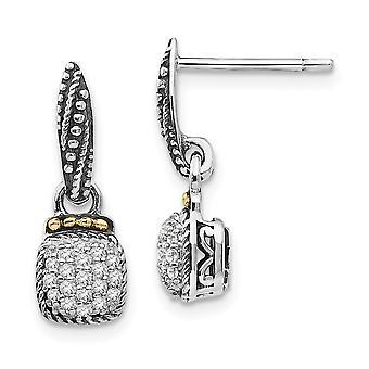 925 sterlinghopeaa 14k diamond dangle post korvakorut korut lahjat naisille - 0,19 dwt