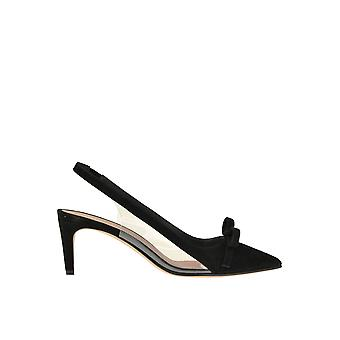 Rood Valentino Ezgl003057 Women's Black Suede Sandals