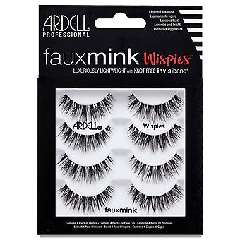 Ardell Faux Mink Eyelashes - Black Wispies Multipack - Knot Free Invisiband