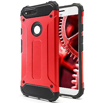 Shell a Google Pixel Red Armor Protection Case Duro