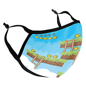 Retro Platform Game Kid's Reusable Fabric Face Mask