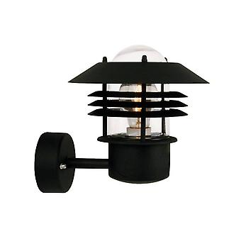 1 Light Outdoor Wall Light Black IP54, E27