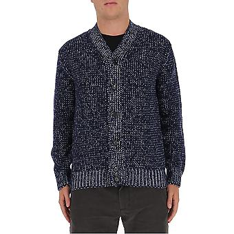Marni Cdmg0047q0s17522bib80 Men's Blue Wool Cardigan