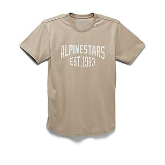 Alpinestars Arched Premium Short Sleeve T-Shirt in Khaki