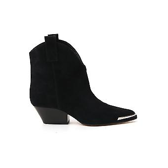 Sergio Rossi A91150mcrm131000 Femmes's Black Suede Ankle Boots