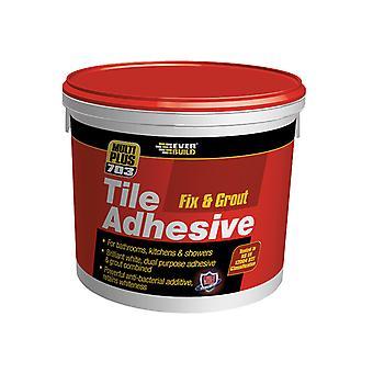 Everbuild 703 Fix & Grout Tile Adhesive 750g EVBFIX005