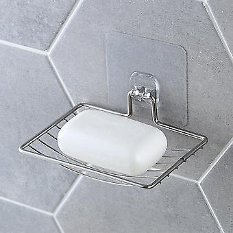 sølv bad vakuum lim såpe holder kopp boks, oppvask såpe lagringssparer
