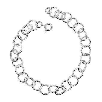 Dew Sterling Silver Set Triple Twisted Link Bracelet 7693HP027
