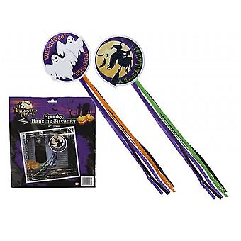 Halloween Hanging Decoration With Streamers 122cm 2 Assorted Designs, 1 Supplied