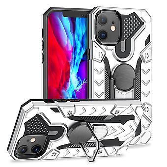 Für iPhone 12 Mini Case tough Protective Cover magnetische ring Halter Silber