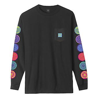 Huf Sewer L/S Pocket T-Shirt - Black