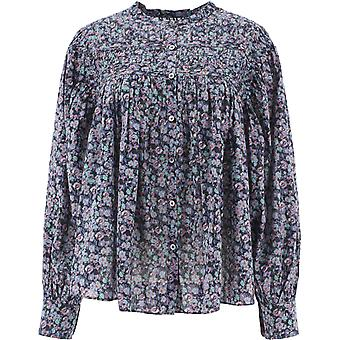 Isabel Marant ÉToile Ht182120a051e99mu Women's Light Blue Cotton Blouse