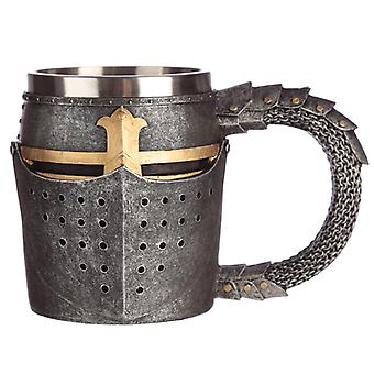 Collectable Decorative Medieval Helmet and Chain Mail Tankard