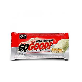 QNT So Good 30% High Protein Carbohydrate Fibre Bar 15 x 60g Weiße Schokolade