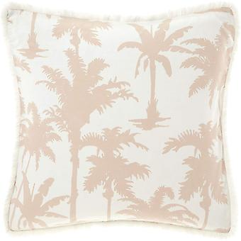 Linen House Luana Palm Tree Square Pillowcase