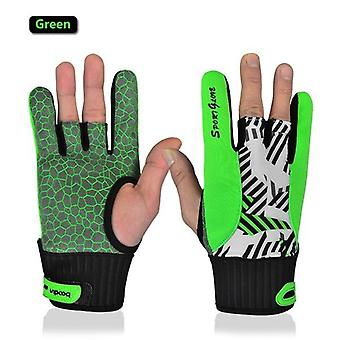 Real Professional Anti-skid Bowling Gloves, Comfortable Accessories Semi-finger