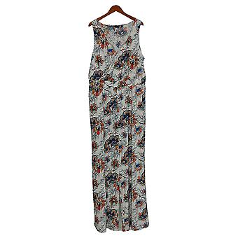 G by Giuliana Plus Jumpsuits Knit Floral Print One-Piece Blue 649-943