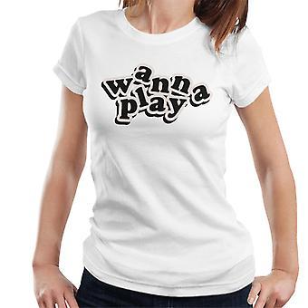 Chucky haluaa leikkiä leikkisä fontti Naiset't-paita
