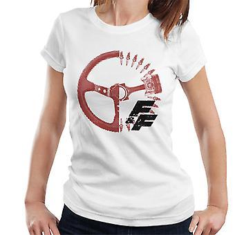 Nopea ja raivoisa ajopyörä X Ray Women's T-paita