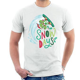 Pflege Bären entsperren die magische Weihnachten Schneetage Männer's T-Shirt
