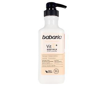 Babaria Vitamina E+ Lapte de corp 100% Vegan 500 ml pentru femei