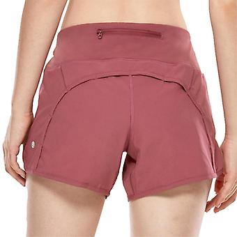 Women's Athletic, Workout, Sports Shorts With Zip Pocket