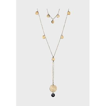 Kalevala Necklace Women's Cosmos Bronze 3368773ON80 Length mm 420-450