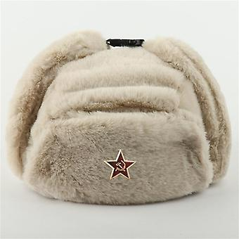 Men's Army Military Russian Ushanka Bomber Hat Winter Warm Caps