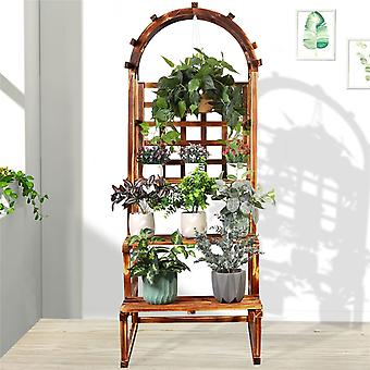 157cm Large Plant Stand With Hanging Shelves