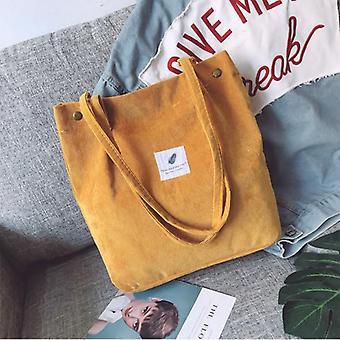 Sac à bandoulière en velours côtelé et achats réutilisables, sac à main casual tote
