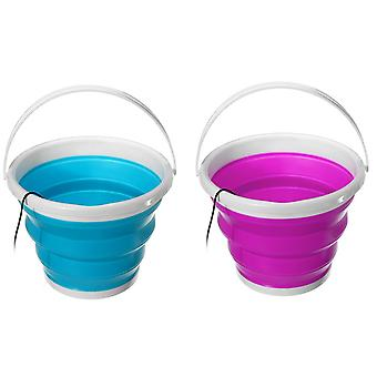 100-240v Mini Ultrasonic Washing Machine Foldable Bucket Type Usb Laundry