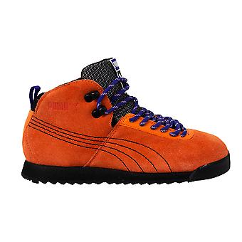 Puma Roma Hiker Orange Suede Leather Outdoor Lace Up Mens Trainers 353795 05