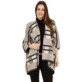 Chal de cárdigan lana de punto - un tamaño - beige