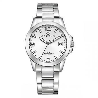 Assista Certus 616342 - Prata masculina e relógio redondo