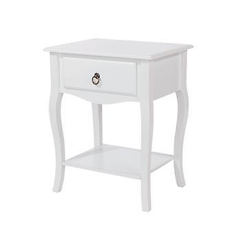 Portal cabriole, 1 drawer bedside cabinet