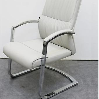 Leather With Armrest Home Study Office Conference Meeting Chair (light Gray)
