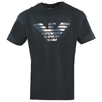 Emporio Armani GA Eagle Logo Navy T-paita