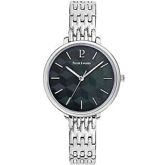 Pierre Lannier reloj de mujer relojes MIRAGE cuarzo negro 026K631 - pulsera de acero plateado